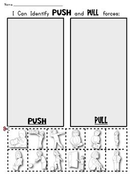 Clipart Resolution 270350 Kindergarten Push And Pull Worksheets
