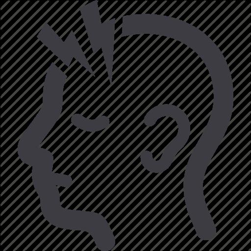 Headache Cartoon Clipart Text Font Line Transparent Clip Art