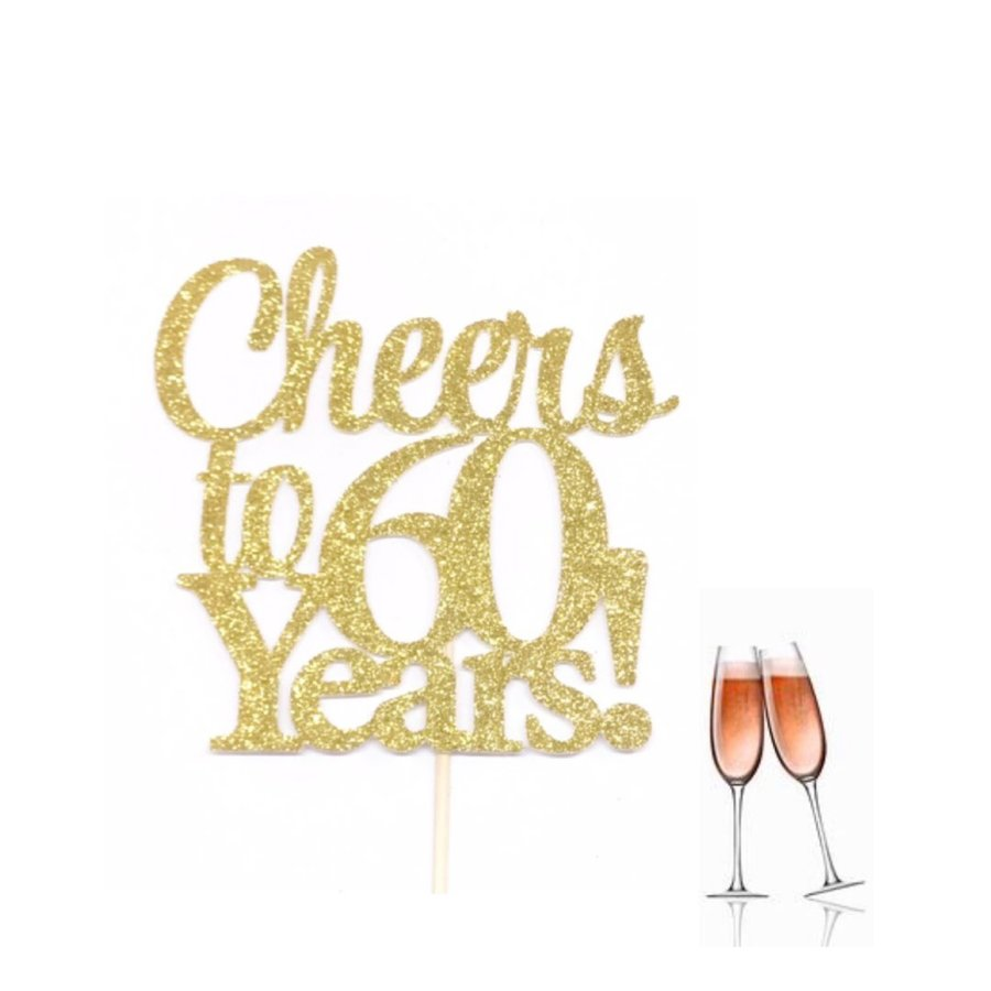Cheers To 60th Birthday Clipart Champagne Cake