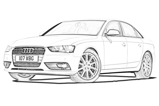 Download Audi Drawing Clipart How To Draw Audi Car