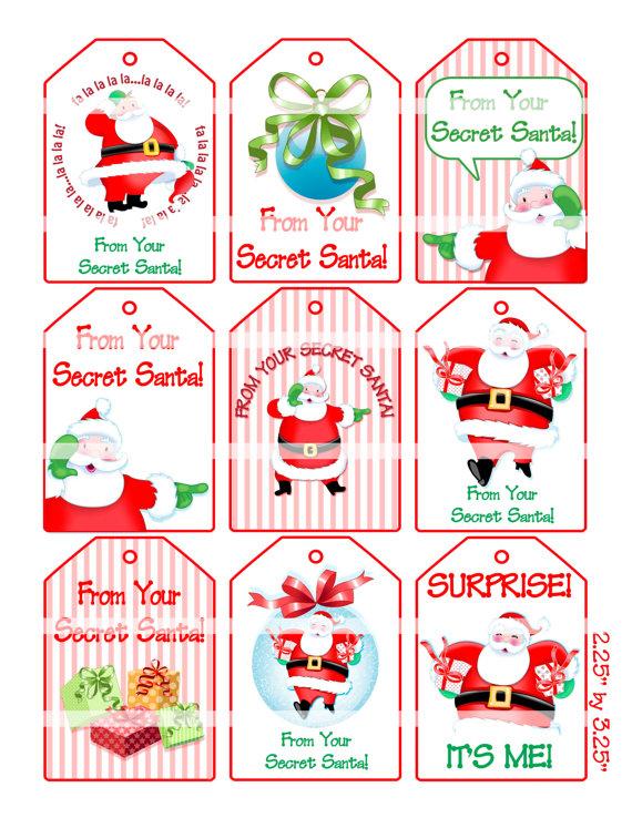 photo relating to Secret Santa Cards Printable identified as Down load Reward clipart Santa Claus Present Magic formula Santa Reward