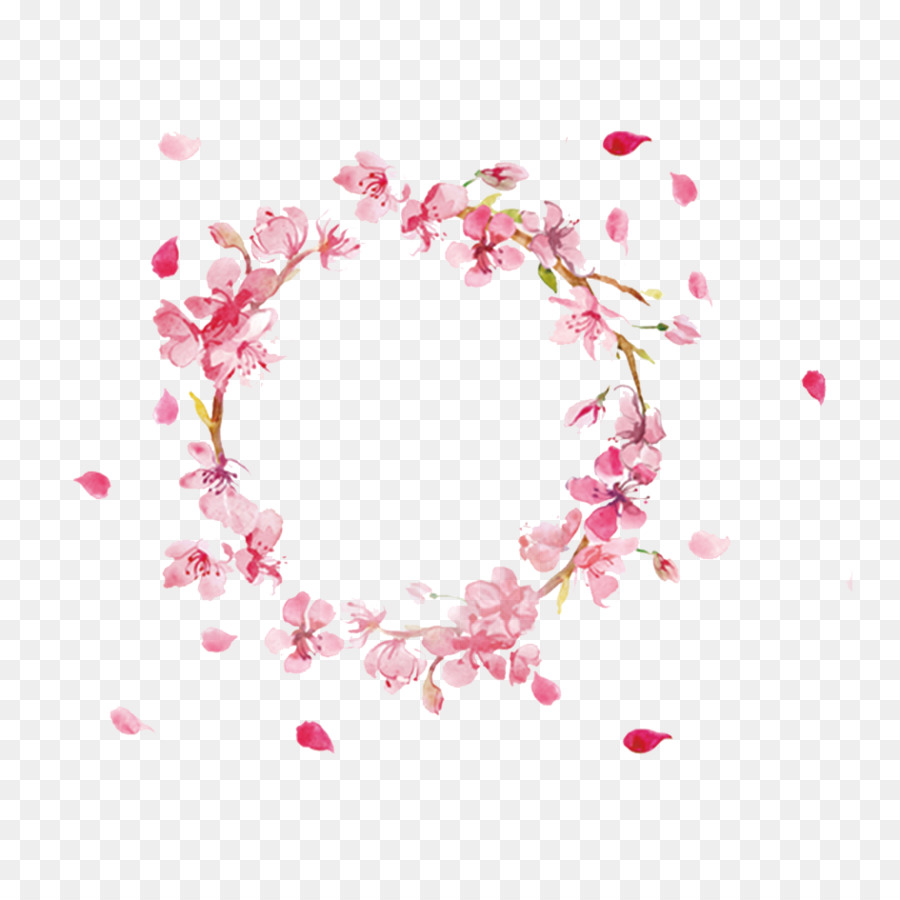 Floral Pattern Background Clipart Pink Flower Heart
