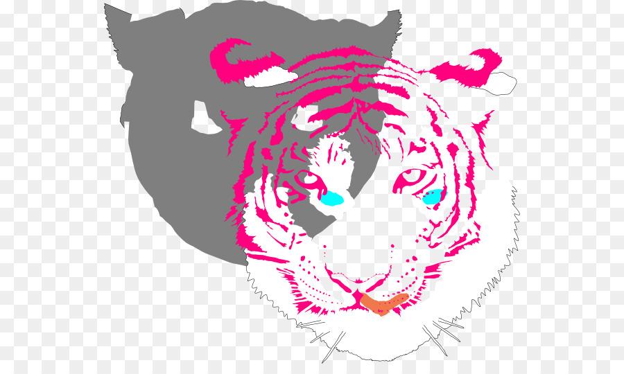 gefährliches, beängstigendes gelb mustert tiger mousepads clipart Bengal tiger Golden tiger Clip art