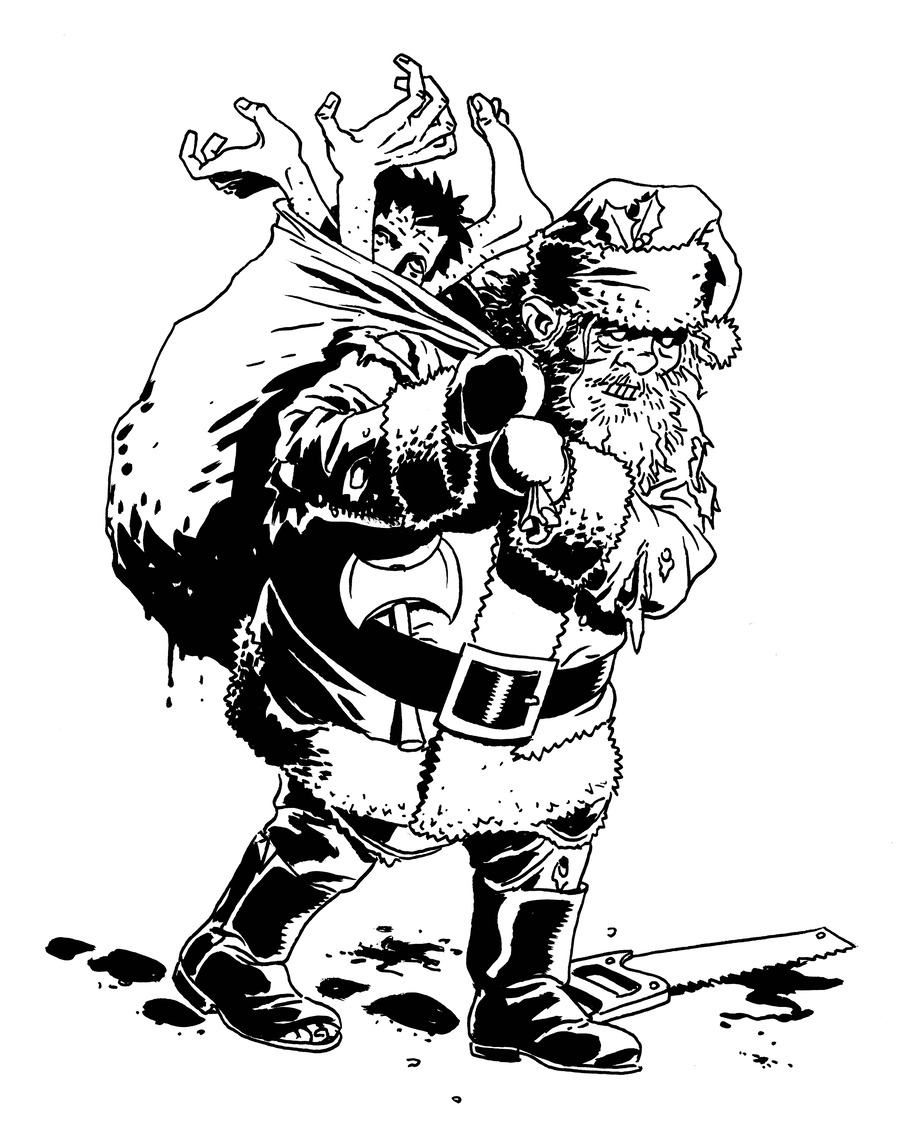 Download Zombie Christmas Cards Clipart Santa Claus Christmas Day