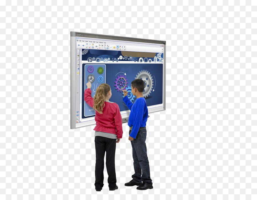 classroom with smartboard clipart - 900×700