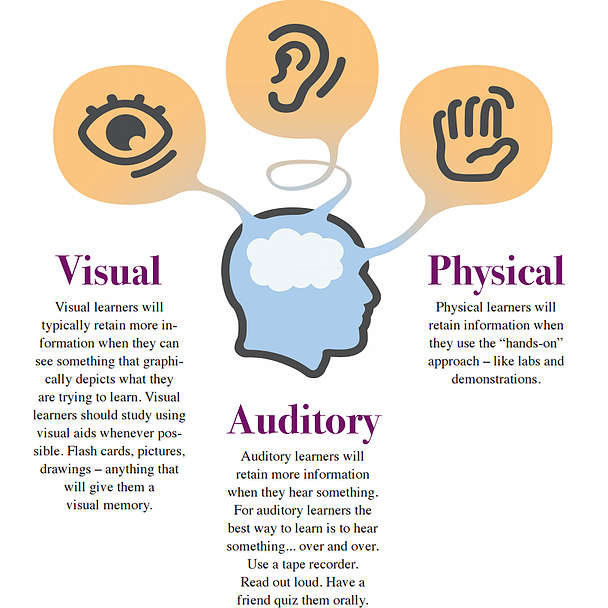 the different learning styles - 688×663