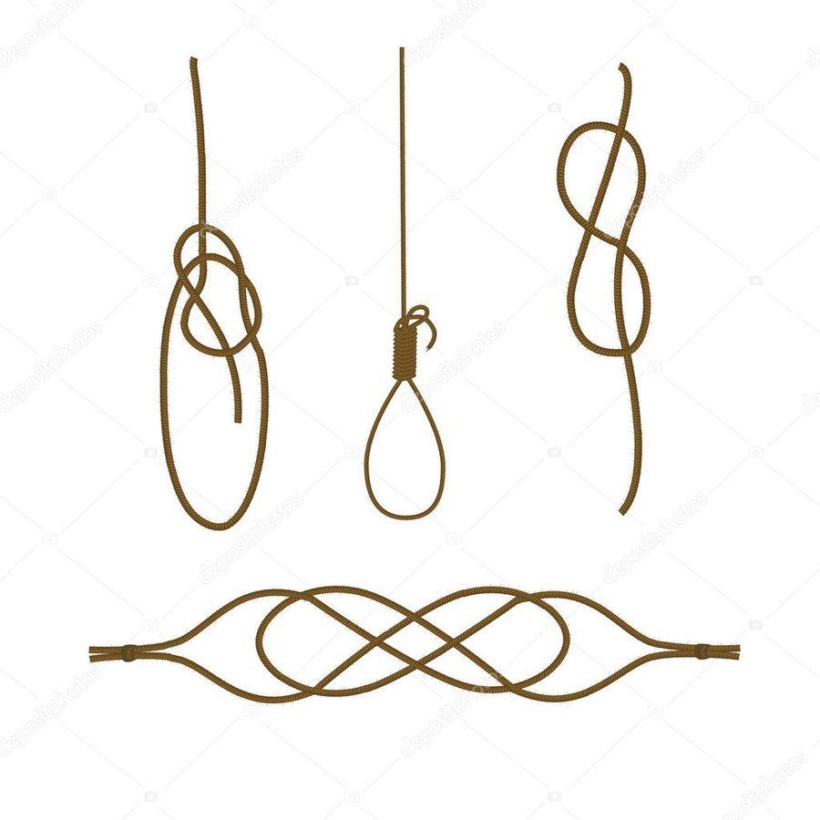 Download Sea Knots Clipart Figure Eight Knot Bowline Illustration
