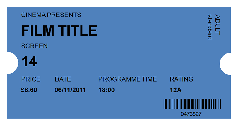 Download Free Movie Ticket Template Clipart Event Tickets Cinema Film