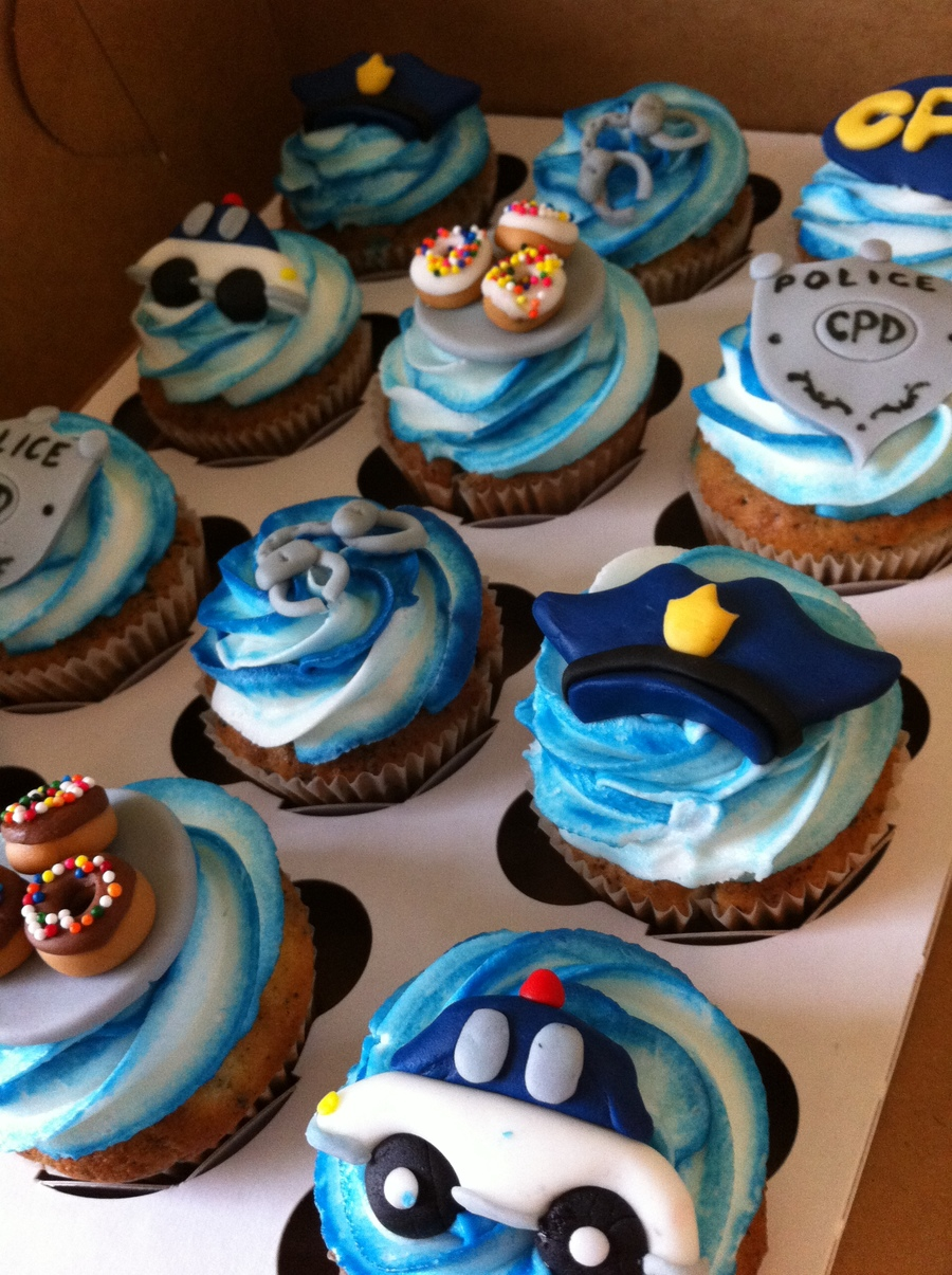 Download Police Car Cupcakes Clipart Birthday Cupcakes Frosting