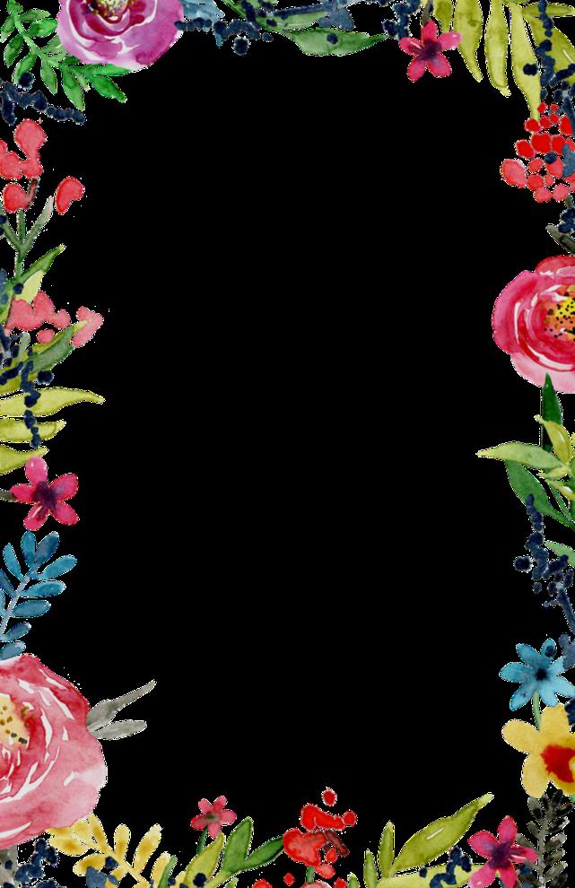 Flower Border Design Clipart Flower Design Pink Transparent