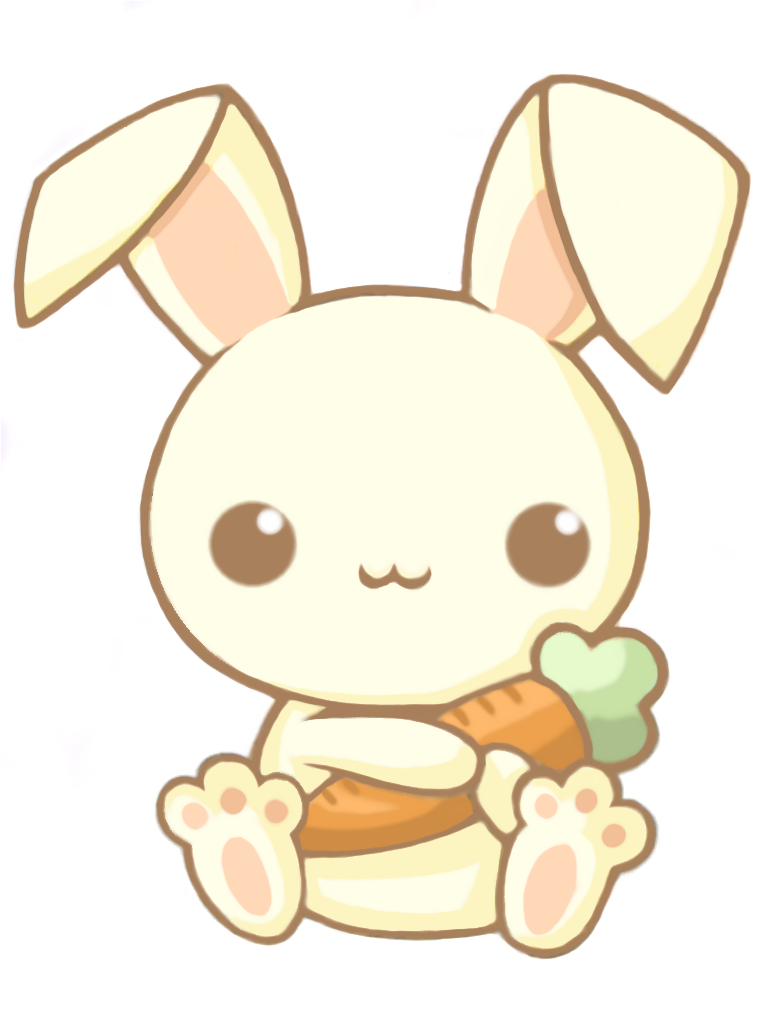Easter bunny kawaii. Background clipart drawing rabbit