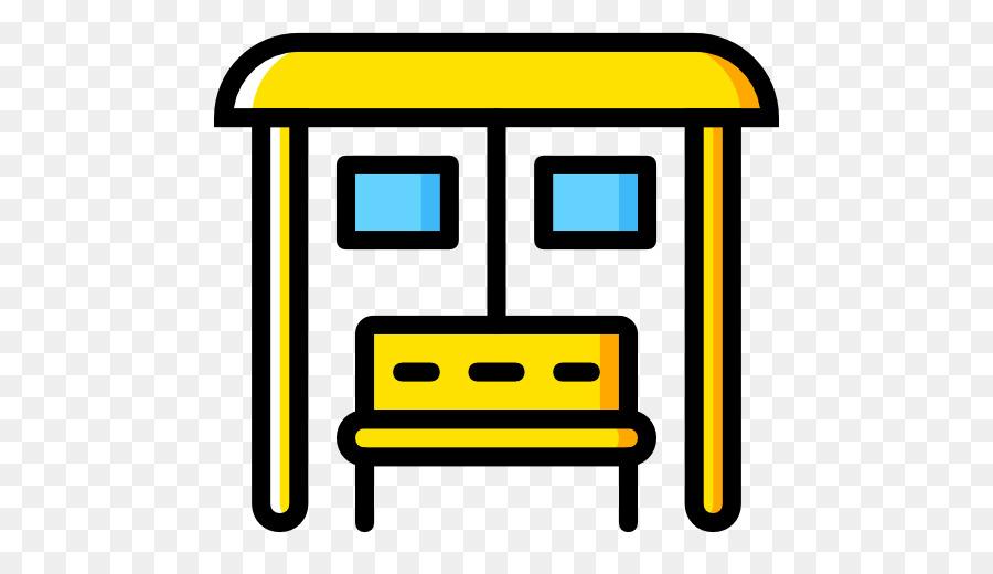 Bus Stop Icon clipart - Bus, Yellow, Line, transparent clip art