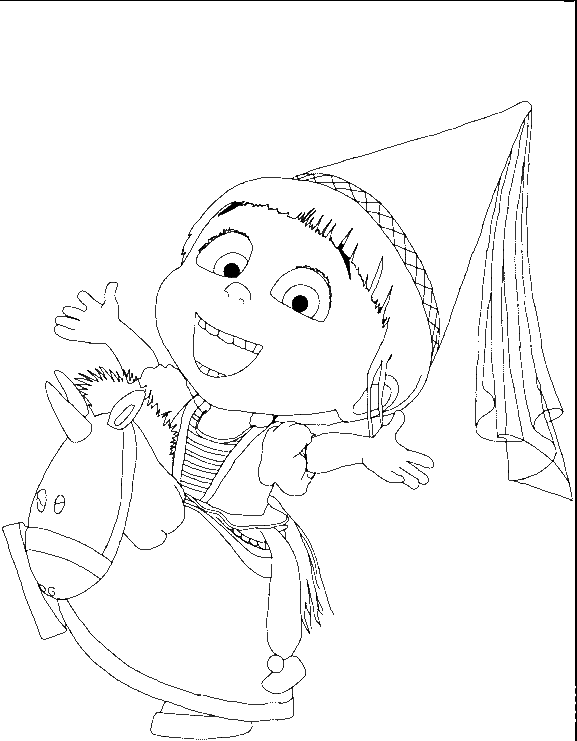 Download agnes dibujo para colorear clipart Agnes Bob the Minion ...