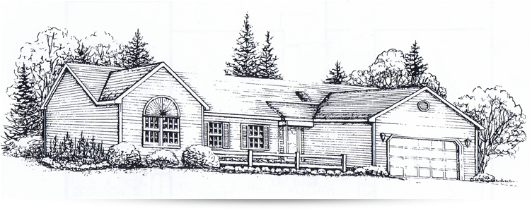 Winter House Drawing
