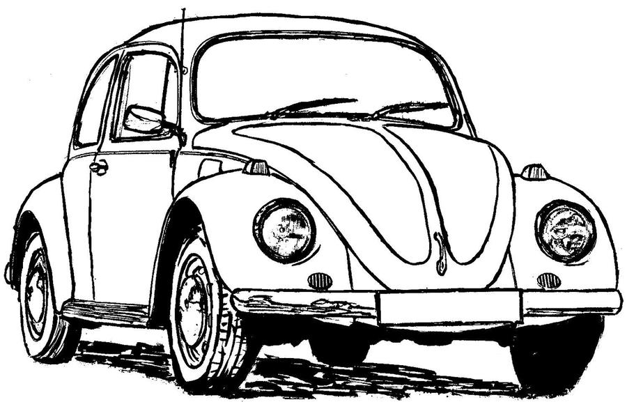 Download Beetle Vw Coloring Page Clipart Volkswagen Group