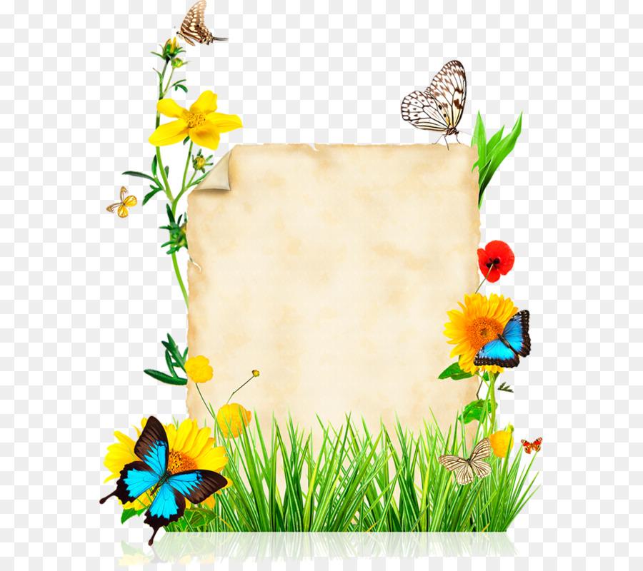Download butterflies flowers borders frames clipart Butterfly ...