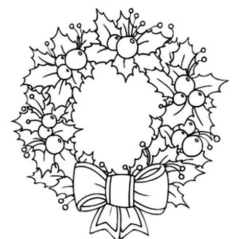 christmas wreath coloring pages clipart christmas wreaths coloring book
