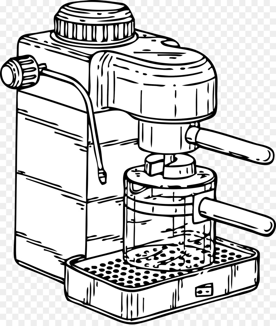Download Coffee Machine Drawing Clipart Espresso Diagram Cappuccino