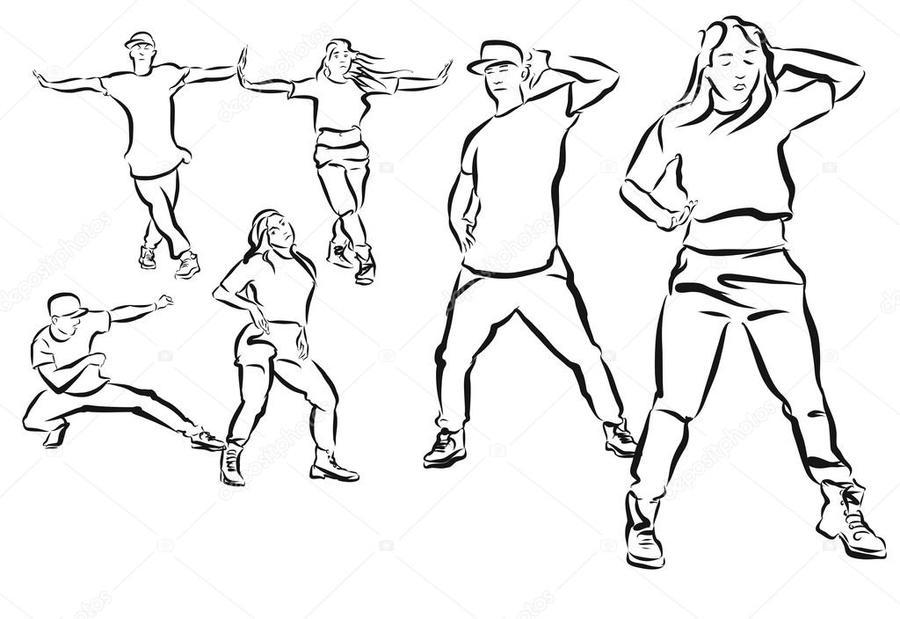 Download niños bailando hip hop para colorear clipart Choreography ...
