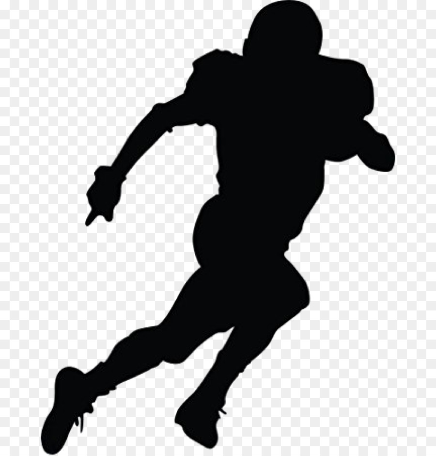 Football silhouette. American flag background clipart
