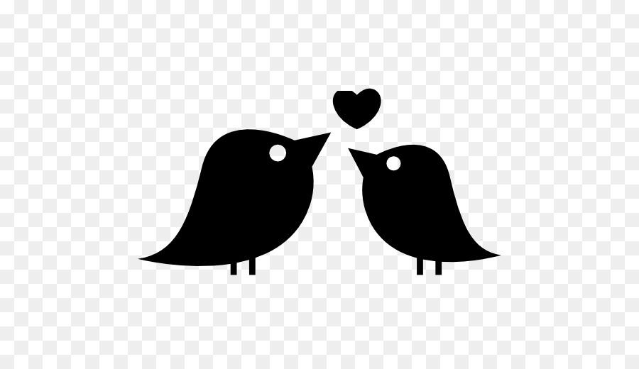 Love Black And White Clipart Bird Illustration Love Transparent Clip Art