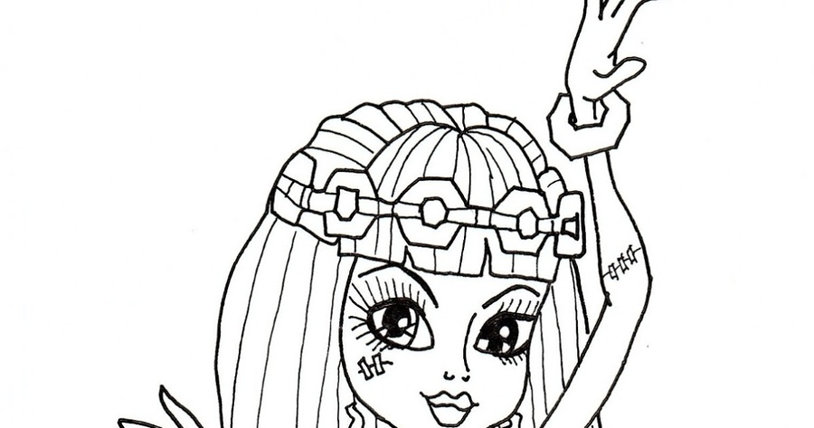 Download Monster High Coloring Pages 13 Wishes Cleo Clipart Frankie Stein Book