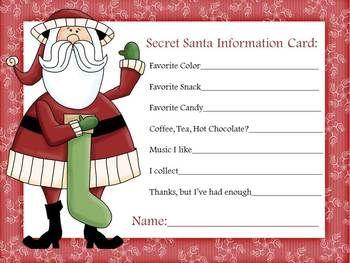 image relating to Printable Secret Santa Wish List known as Clipart solution 350*263 - printable key santa kind