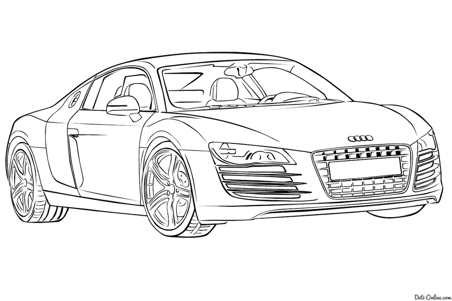 download audi r8 coloring pages clipart audi r8 car