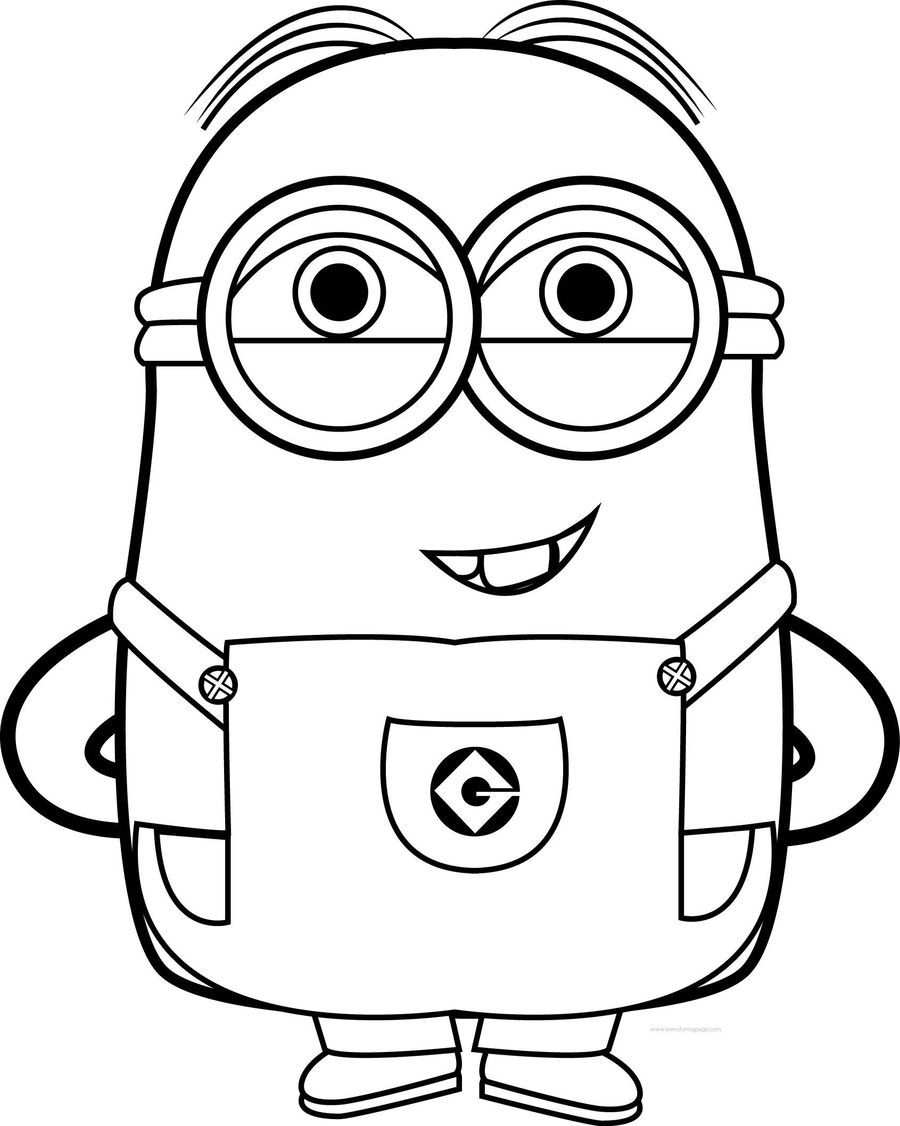 Download Minion Coloring Pages Clipart Bob The Colouring Kevin