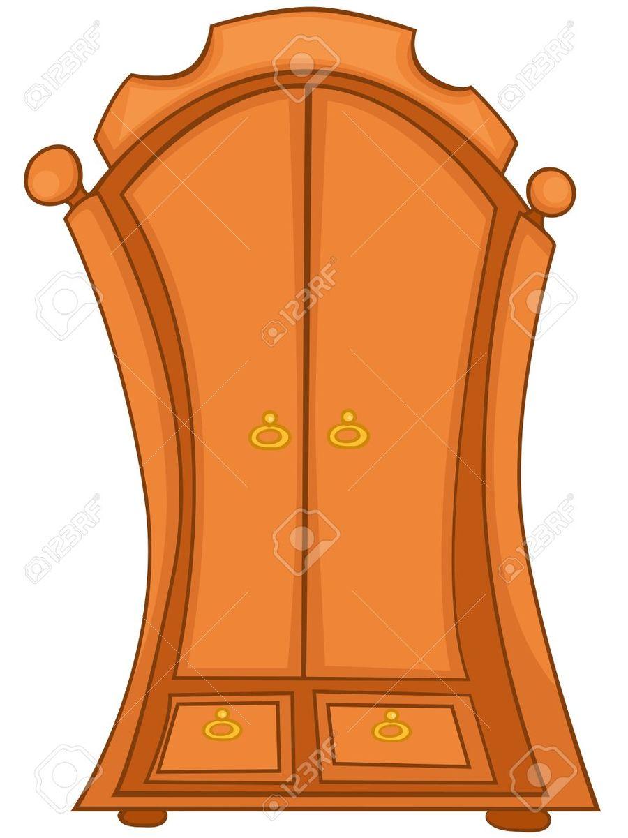 Cartoon Wardrobe Clipart Closet Armoires U0026 Wardrobes