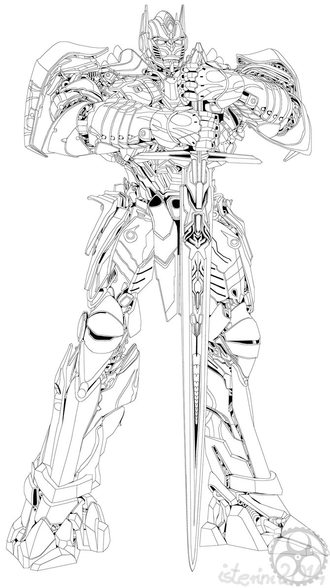 Transformers 4 Optimus Prime Coloring Pages Clipart Bulkhead Angry Birds