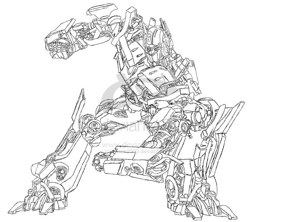 Optimous Prime Coloring Sheets Clipart Optimus Megatron