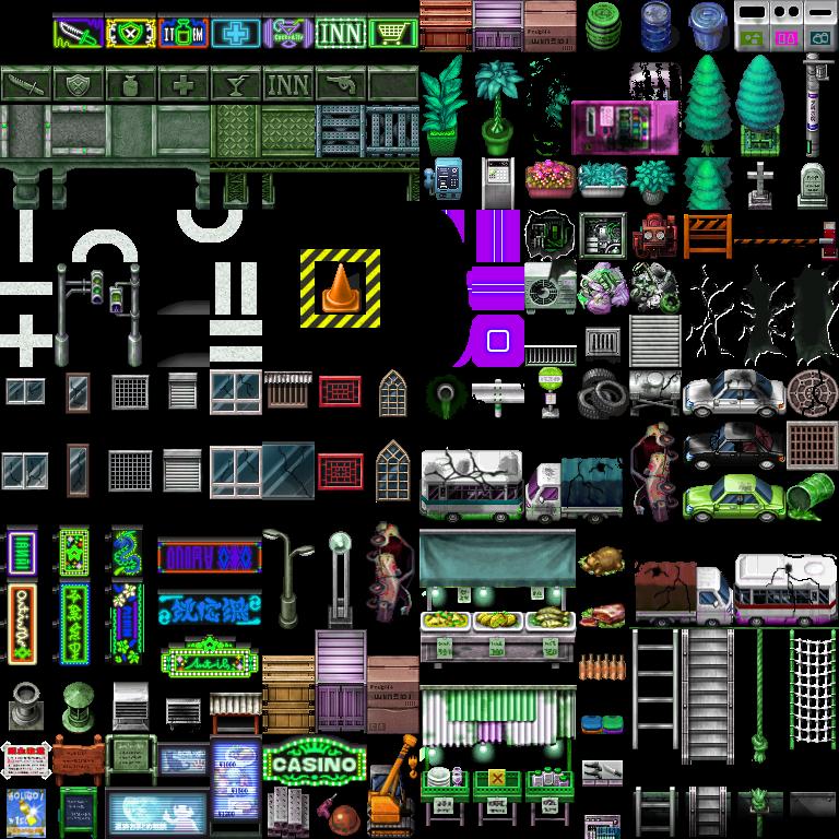 modern, sci fi, tileset, green, CRERYPHYPE