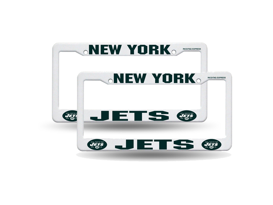 Download nfl new york jets plastic license plate frame - white ...