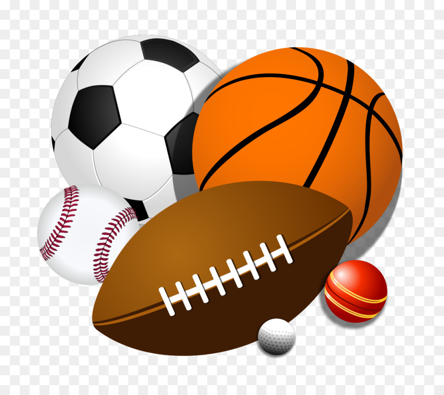 Football Cartoon Clipart Ball Sports Orange Transparent Clip Art