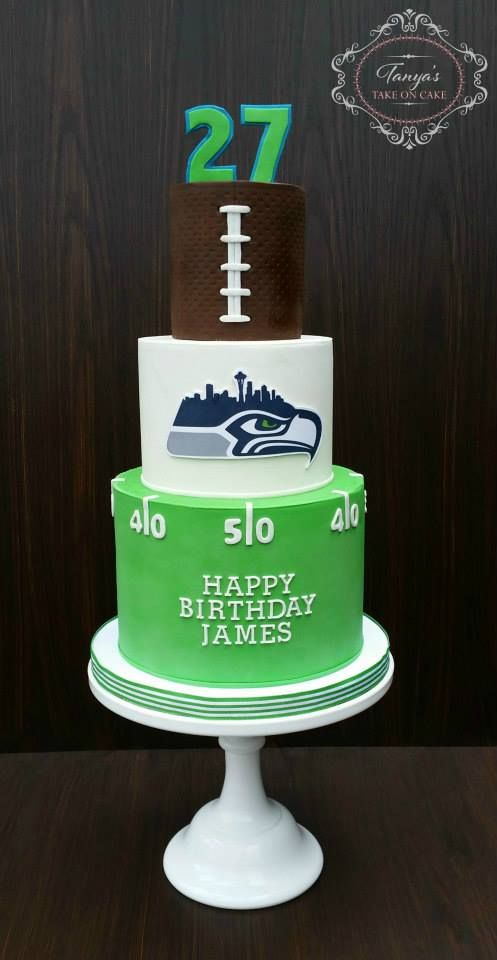 Seattle Seahawks Clipart Bakery Birthday Cake