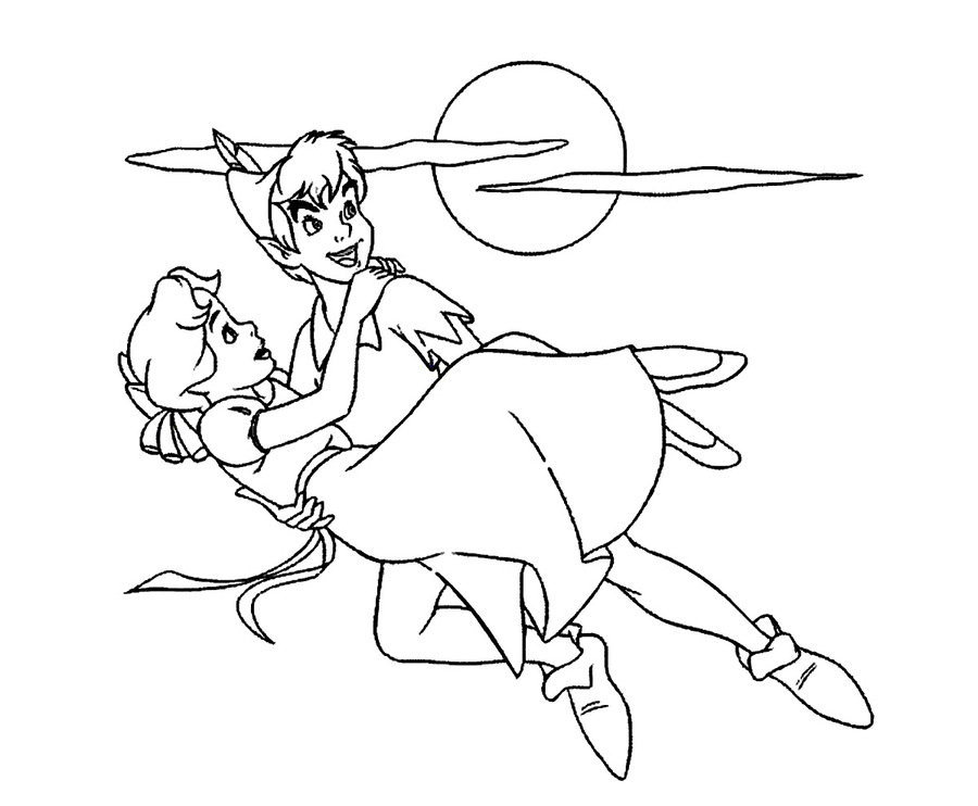 Download peter pan coloring pages clipart Peter Pan Captain Hook ...