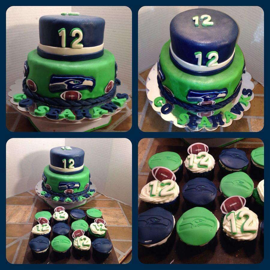 Seahawk Cakes Clipart Birthday Cake Seattle Seahawks Super Bowl