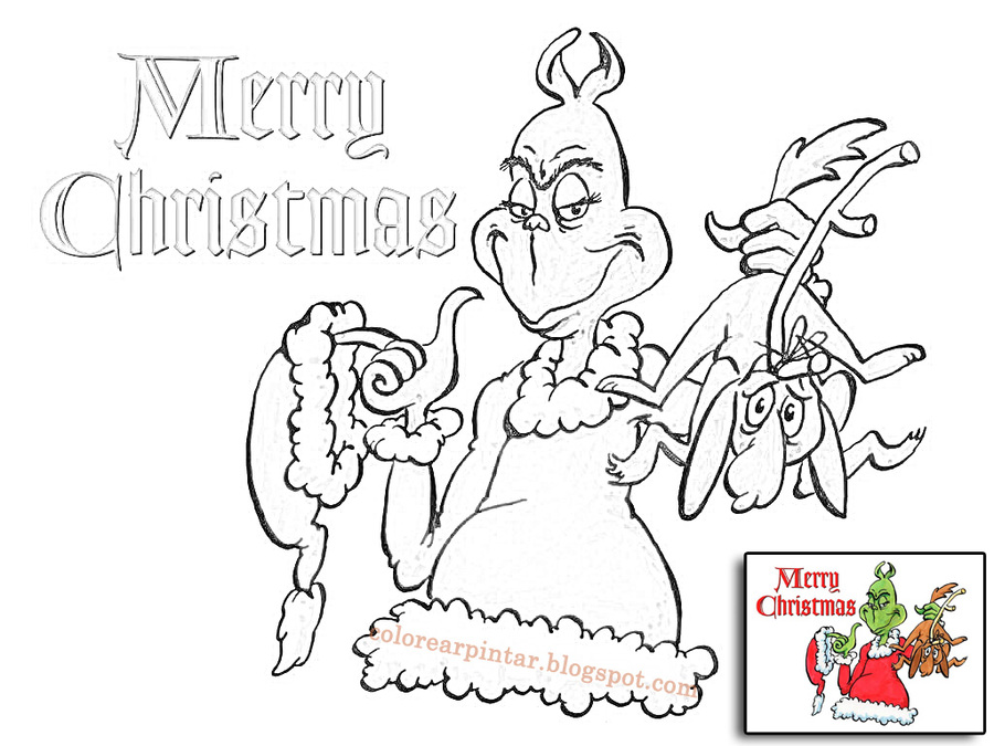 Download dibujos de grinch para colorear clipart How the Grinch ...