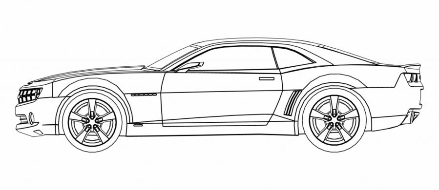 Download Camaro Side View Drawing Clipart 2010 Chevrolet Camaro Car