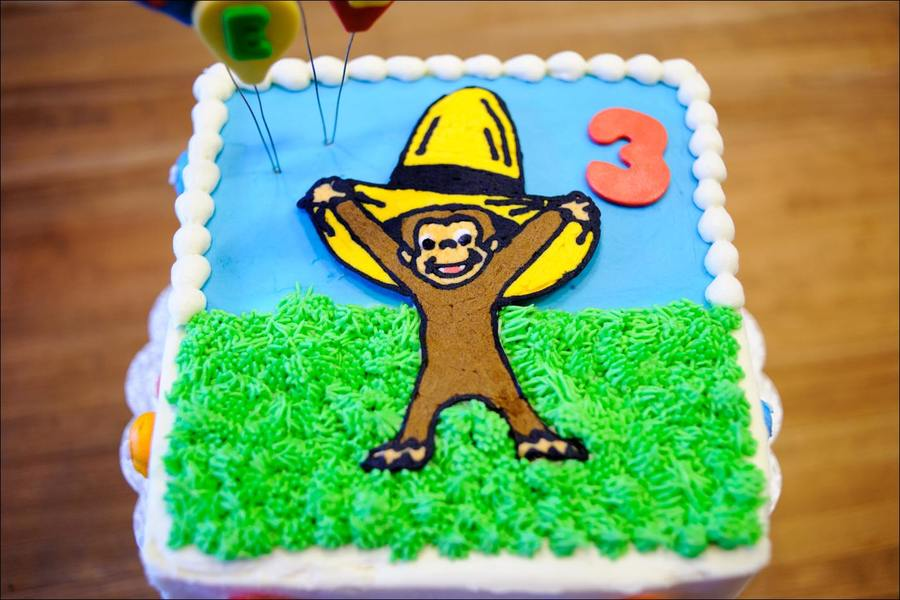 Download 3rd Curious George Birthday Cake Clipart Birthday Cake