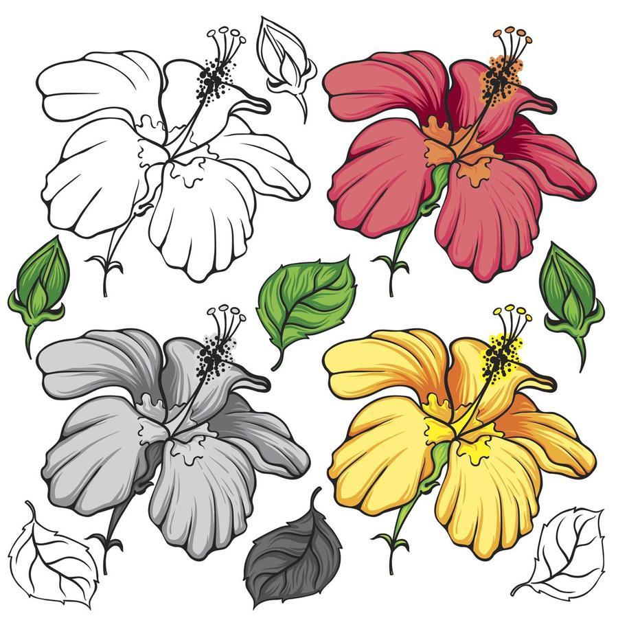 Download illustration clipart floral design rosemallows download illustration clipart floral design rosemallows illustration flower art izmirmasajfo
