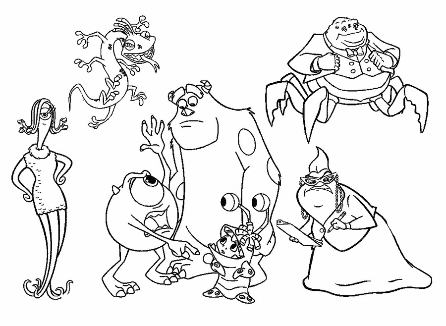 Download monster inc para colorear clipart Coloring book James P ...