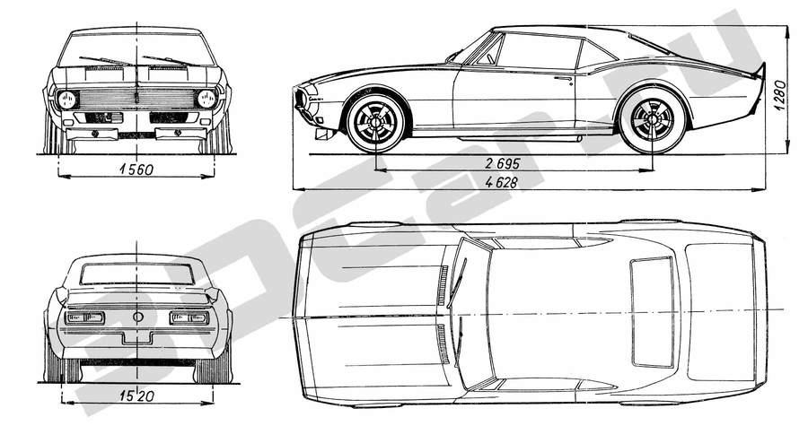 Download chevrolet camaro чертеж clipart Technical drawing Chevrolet ...