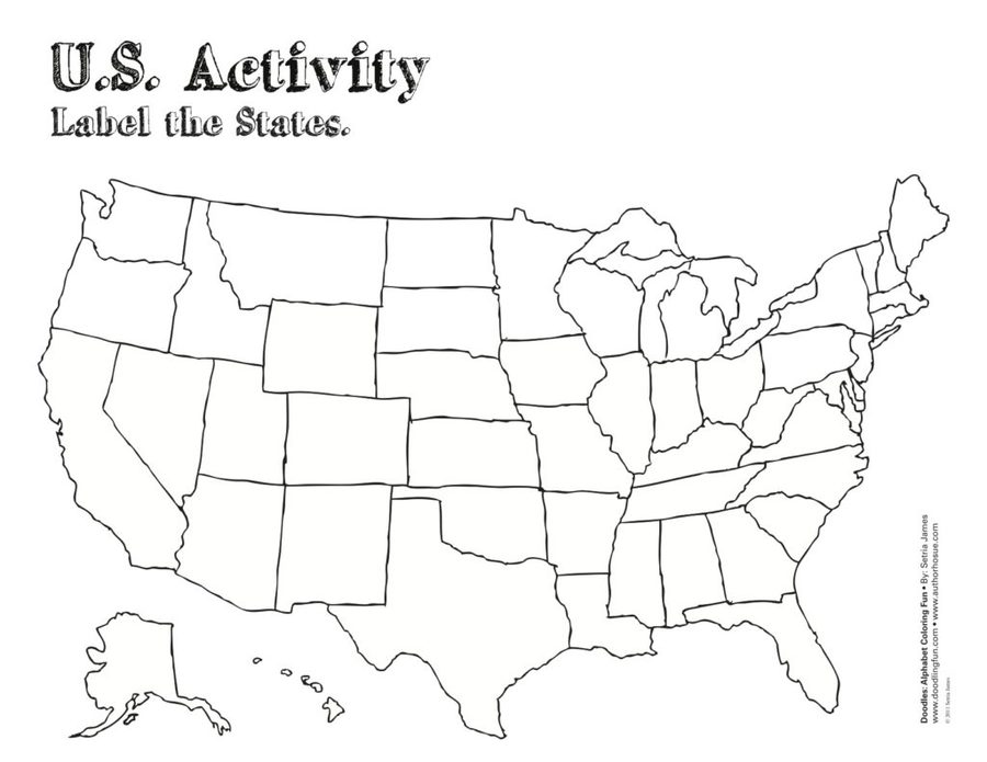 Download blank united states map test clipart U.S. state Blank map ...