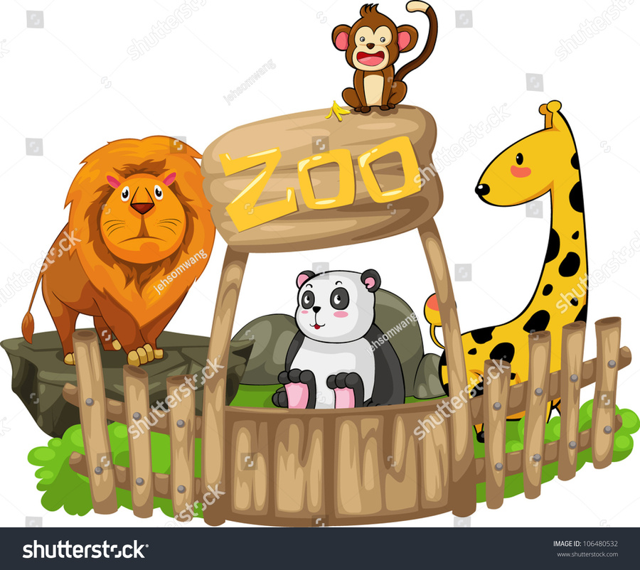 Zoo Animals Coloring Book Clipart Wonder