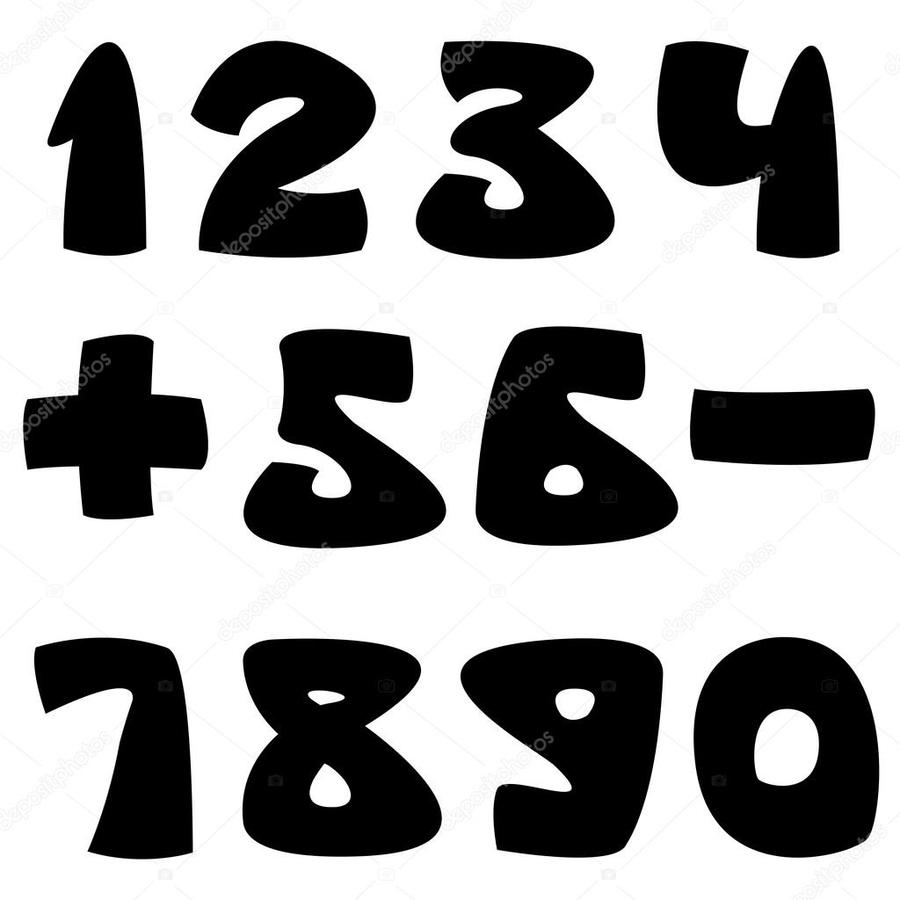 free black and white number clip art free vector download