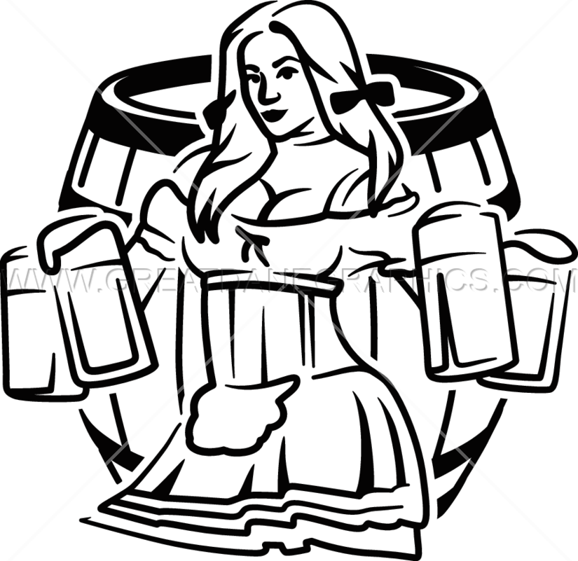 beer woman black and white png clipart Beer festival Clip art