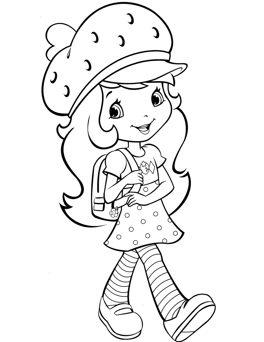 Download strawberry shortcake coloring pages clipart Coloring book ...