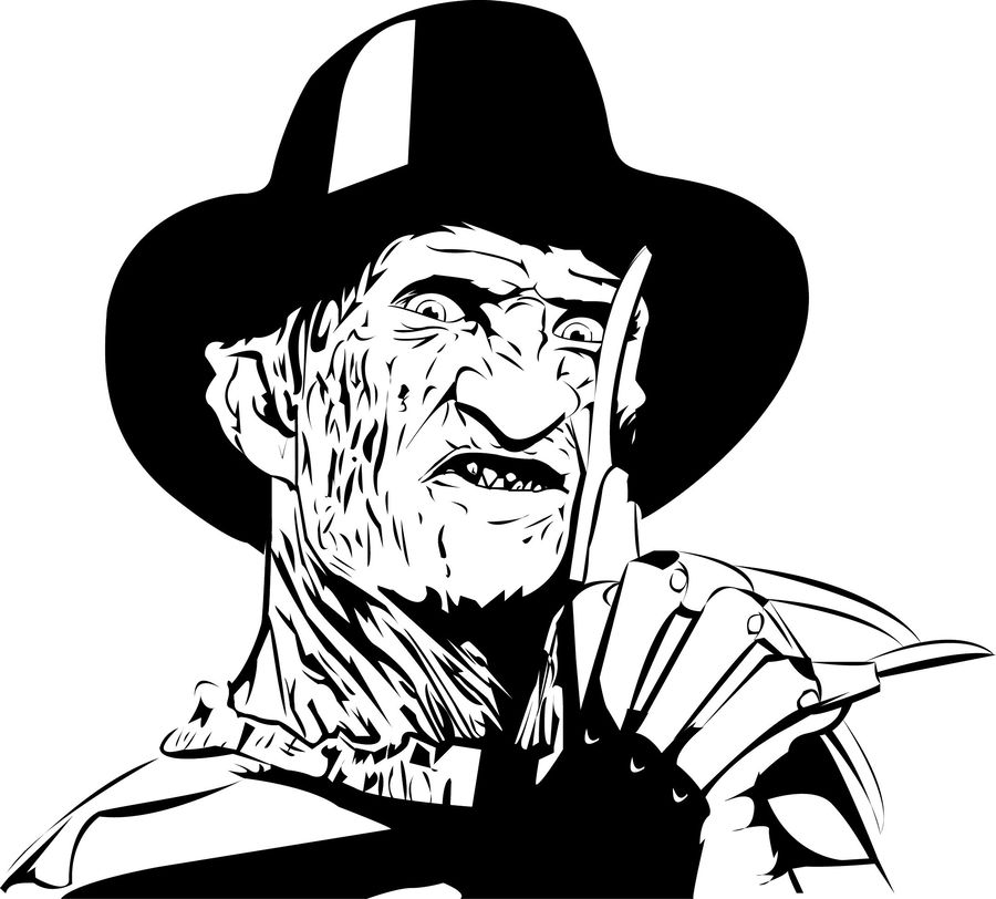 Freddy Krueger Coloring Pages Clipart Book